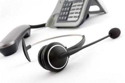 Casque de standard téléphonique