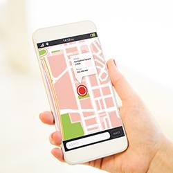 géolocalisation automobile sur téléphone portable