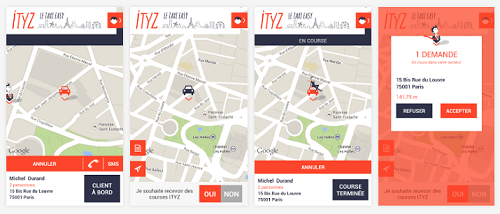 ITYZ : géolocalisation de taxis